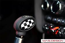 2014 on MINI Cooper S F54-F57 Automatic Shifter Knob Badge in Racing Checkered