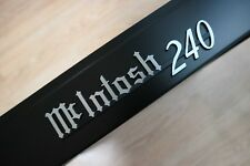 McIntosh MC240 240 emblem badge logo Black+Brushed finish – new reproduction