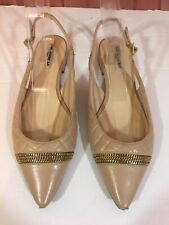 Karl Lagerfeld Nude Slingback Flat Shoes Size 9