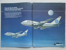 7/1980 PUB PRATT & WHITNEY AIRCRAFT JT9D BOEING 747SP PAN AM ORIGINAL AD