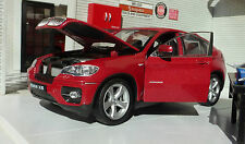 1:24 Escala BMW X6 XD RIVE 4x4 4.4 3,0 E71 24004r Welly De Metal V Detallado