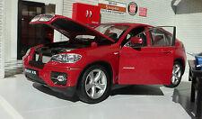 Modelo 1 24 BMW X6 Metálico rojo oscuro Welly 24004