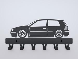 VW Golf MK4 WALL KEY RACK Volkswagen RABBIT Souvenir Car lover COAT HOOK VW fan