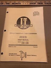 8000 8600 8700 9000 9600 9700 Vintage Ford Tractor I&T Shop Service Manual fo-37