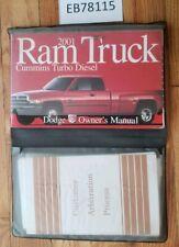 2001 Dodge Ram Cummins Turbo Diesel Pickup Truck Original Owner Manual Booklet