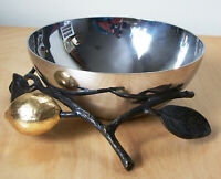 "Michael Aram ""Lemonwood"" 4-5/8"" Bowl - Gold, Brass, & Steel"