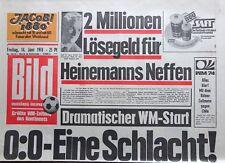 Kult-Zeitschrift BILD ZEITUNG, 14.6.1974, Fußball WM 1974 -  Eröffnungsspiel 0:0
