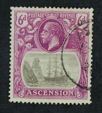 Ckstamps: Gb Ascension Stamps Collection Scott#17 Used