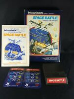 Intellivision Space Battle Complete w/ Box Manual 2 Overlays Blue Box
