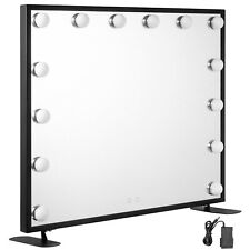 Hollywood Makeup Mirror Lighted Vanity Mirror Metal Wall Mount 3 Colored Lights