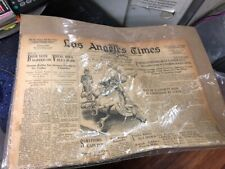 1932  weds may 18, Los Angeles Times looks like the in plastic COVER WOW LOOK