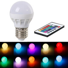 In US! RGB 3W E27 LED Light Lamp Bulb Color Changing IR Remote Control 85-265V