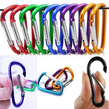 10pcs Aluminum Carabiner D-Ring Keyring Key Chain Clip Snap Hook Karabiner Tools