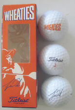 TIGER WOODS--WHEATIES SLEEVE OF 3 TITLEIST GOLF BALLS--MINT IN BOX