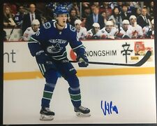 Elias Pettersson Signed Vancouver Canucks 8x10 Photo Proof