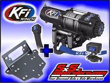 3000 lb KFI Steel Winch & Mount Kit Combo Can-Am 2013-2016 Maverick 1000 R Turbo