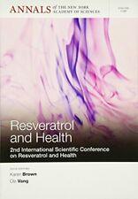 Resveratrol and Health: 2nd International Confe, Brown, Vang+=