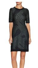 Brand NWT $795 M Missoni Green Metallic Navy Lurex Abstract Knit Dress Sz 2 (38)