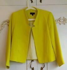 Topshop Neon Yellow Cropped Blazer Short Jacket UK 8 RRP £50