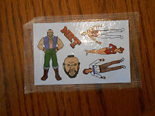 Vintage The A-Team 1983 Ruby Spears Enterprises Stickers - One Mint