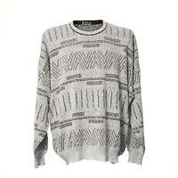 Bueckle Herren Vintage Strickpullover Sweater Sweatshirt Retro Größe 2XL XXL