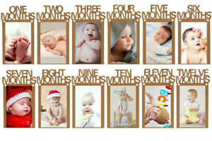 12 months Baby Shower Wall Hanging Photo Frame Picture String Album Banner Flag