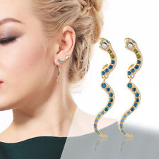 Chic Blue Crystal Snake Dangle Earrings Party Earrings Women Fashion Jewelry~