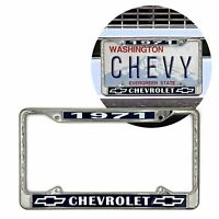 1971 Chevy Chevrolet GM License Front Rear Chrome Plate Holder Frame V8 SS LS 71