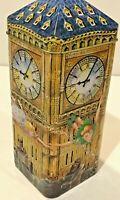 CHURCHILLS Peter Pan & Friends Flying Over Big Ben Clock Tin Coin Bank Money Box