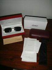 Cartier C Decor Collection Wooden Frame Unisex Sunglasses