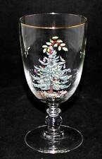 "Spode - CHRISTMAS TREE - 7"" Pedestal Water or Wine Goblet"