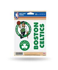 Boston Celtics Triple Spirit Sticker Sheet Die Cut Decal New NBA Full Color Logo