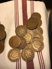 50 Indian Head Cents, All Mixed Dates And Cond .