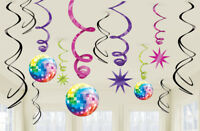 70s Disco Swirls Decorations /12