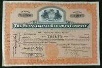 1956 The Pennsylvania Railroad Company 30 Share Certificate Scripophily