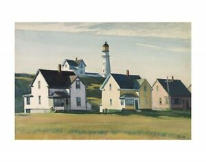 "LIGHTHOUSE VILLAGE 1929 BY EDWARD HOPPER    ART PRINT POSTER 14"" X 11"" (2753)"
