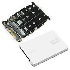 M.2 SSD to U.2 Adapter 2in1 M.2 NVMe and SATA-Bus NGFF SSD to PCI-e U.2 SFF-8639