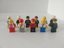 Set of 11 Vintage Lego Town City Minifigures Policemen, Postmen and more