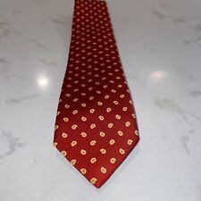Drake's Red Foulard 100% Silk Tie New With Tags