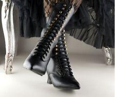 victoriaanse laarzen, boots, zwart, gothic, laced up, steampunk, alto, maat 40