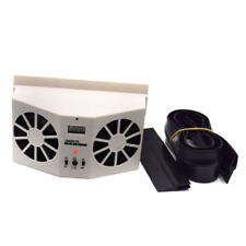 Ivory  Solar Powered Car Truck Window Air Vent Cooling Cooler Dual Fan Universal