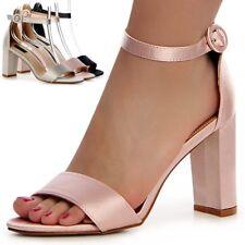 Damen Riemchen Sandaletten Sandalen High Heels Pumps Hochzeit Party