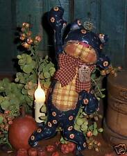 Primitive Black Kitty Cat Ornie Doll Paper Pattern #466