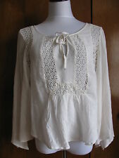 Ralph Lauren Denim & Supply women's off white cotton viscose top size Small NWT
