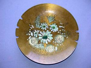 Vintage SASCHA BRASTOFF Signed Enamel On Copper Bowl