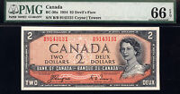 Devils fACE  $2 BANK OF CANADA   1954  PMG 66 perfect  cOYNE tOWERS