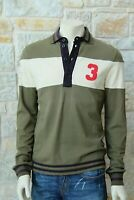 MOSCHINO Men's 97% Cotton Long Sleeve Green Collared T-Shirt Free P&P New w Tags