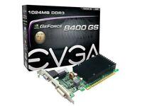 EVGA GeForce 1 GB DDR3 PCI Express Graphics Card DVI/HDMI/VGA video Blu-ray PC