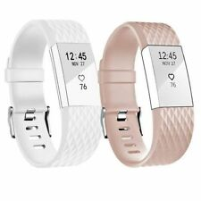 2 Pack Replacement Wristband For Fitbit Charge 2 Band Silicone Fitness Small