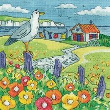 HERITAGE CRAFTS BY THE SEA POPPY SHORE COUNTED CROSS STITCH KIT BY KAREN CARTER